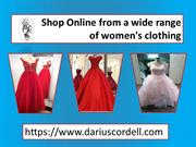 Choose the unique & stylish dresses from Darius Cordell Collection