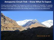 Annapurna Circuit Trek – Know What To Expect