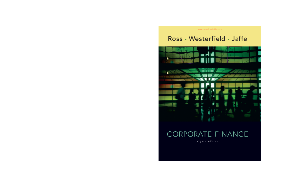 4 corporate finance 8e by ross jaffe authorstream 4 corporate finance 8e by ross jaffe fandeluxe Gallery