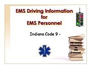 EMS Driving Information