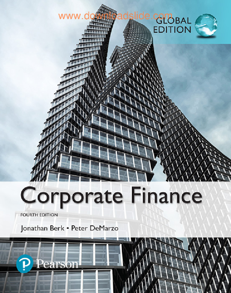 6 corporate finance 4th global by berk demarzo pearson 2017 6 corporate finance 4th global by berk demarzo pearson 2017 authorstream fandeluxe Choice Image