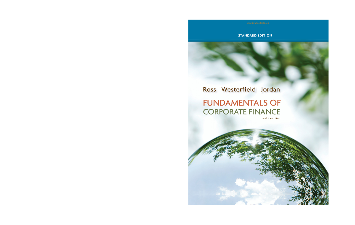 5 fundamentals of corporate finance 10th standard edtion by ross j related presentations fandeluxe Images