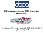 SEO for accountants from DAPA finance the SEO specialists