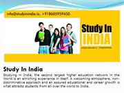 10 Reasons to Study in India