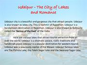 Udaipur - The City of Lakes and Romance