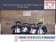 Tips To Get Entrance In MBA Colleges In Hyderabad