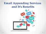 Email Appending Services and It's Benefits