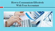How to Communicate Effectively With Your Accountant