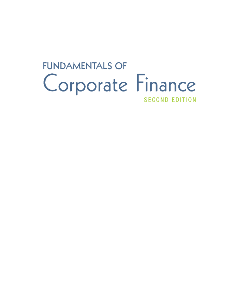 sports shoes 56d01 44758 17 Fundamental of Corporate Finance 2e by Beark PEARSON