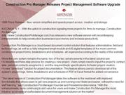Construction Pro Manager Releases Project Management Software