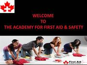 Join Certified First Aid CPR Training Courses In Toronto