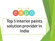 Interior Wall paints Solution Provider in India