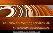 Coursework Writing Services UK - Get Solutions of Coursework