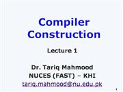 Compiler Construction Lec 1 CC