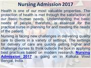 Nursing Admission 2017