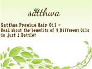 Satthwa Hair Fall Control Oil and Essential Oils - Pure to the Core
