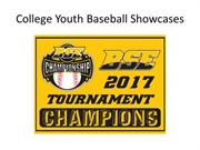 College Youth Baseball Showcases