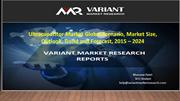 UltraCapacitor Market, Trend and Forecast, 2015 – 2024
