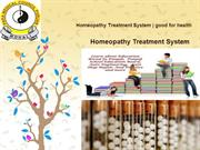 Homeopathy Treatment System  good for health