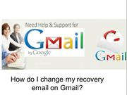 How do I change my recovery email on Gmail