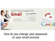 How do you change your password on your email account