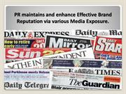 PR maintains Effective Brand Reputation via Media Exposure by PR Firm