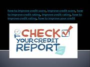 how to improve credit score 2017