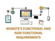 WEBSITE'S FUNCTIONAL AND NON FUNCTIONAL REQUIREMENTS