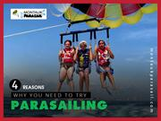4 Reasons why you Should Give Parasailing a Try