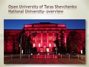 Open University of Taras Shevchenko National University- overview