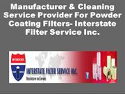 Manufacturer & Cleaning Service Provider For Powder Coating Filters