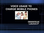voice usage to charge mobile phones
