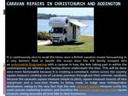 Caravan Repairs in Christchurch and Addington