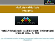 Protein Characterization and Identification Market