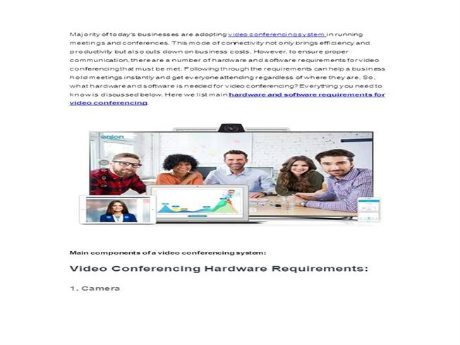 Hardware And Software Requirements For Video Conferencing AuthorSTREAM - Hardware and software requirements
