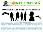 Private Detective Agency in India || Confidential Detective Agency