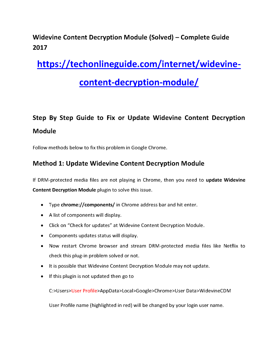 Widevine Content Decryption Module (Solved) – Complete Guide 2017