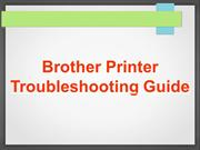 Brother printer troubleshooting guide