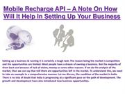 Mobile Recharge API, Go Processing