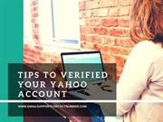 Tips to verified your Yahoo Account