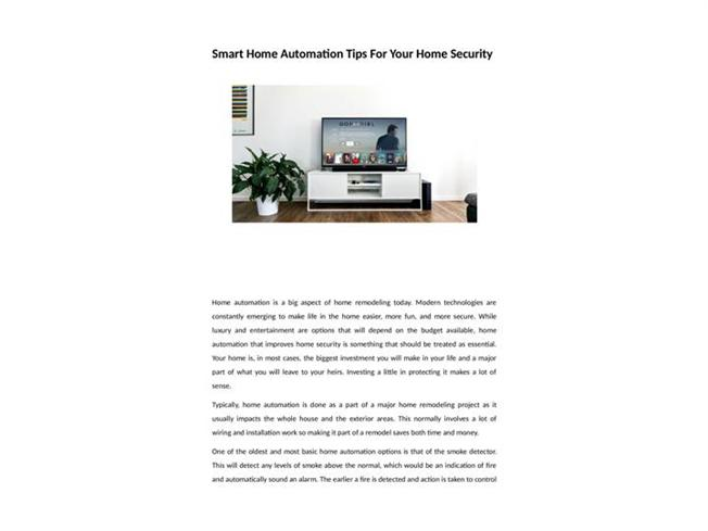 Superb Smart Home Automation Tips For Your Home Security Authorstream Wiring 101 Carnhateforg