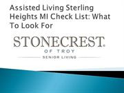 Assisted Living Sterling Heights MI Check List What To Look For