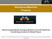 Optical Imaging Market -Emerging Markets to Provide Significant Growth