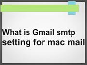 smtp setting for mac mail