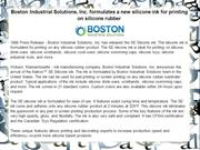Boston Industrial Solutions, Inc. formulates a new silicone ink