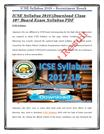 ICSE Syllabus 2018 Download Class 10th Board Exam Syllabus PDF