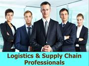 logistics and supply chain professional