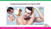 Top Most Powerful Hair Care Tips for MEN