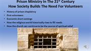 0103 Prison Ministry In The 21st Century 3rd presentation with audio