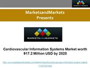 Cardiovascular Information Systems Market Forecasts to 2020